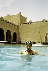 Berta, Morocco (quentinsimon) Tags: pool girl beauty swimming mju olympus morocco blond ii maroc stylus agfa marruecos epic
