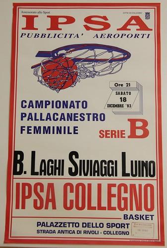 Manifesto Collegno Basket vs. Luino - Serie B Femminile