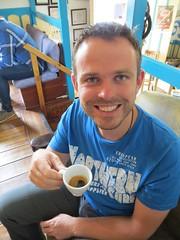 Tijs leert koffie drinken
