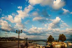 Bridgefront (Melissa Maples) Tags: morning bridge blue summer lake water clouds turkey nikon asia trkiye nikkor vr afs  18200mm  f3556g  beyehir 18200mmf3556g d5100