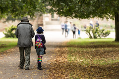 2 generations apart out for a stroll (kevaruka) Tags: uk greatbritain autumn england colour fall canon countryside flickr colours unitedkingdom bokeh 5d frontpage rufford nottinghamshire ruffordhall canon5dmk3 5dmk3 5d3 5diii thephotographyblog canon70200f28ismk2 canoneos5dmk3 september2014