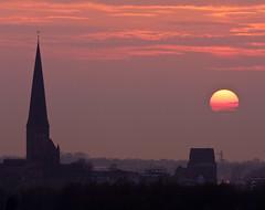 Rostock (Thomas Sobottka) Tags: sunset church steeple rostock