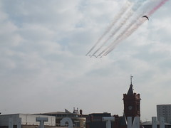 Cardiff Bay flypast for Nato Summit (DJLeekee) Tags: cardiff summit tornado cardiffbay redarrows nato flyby flypast