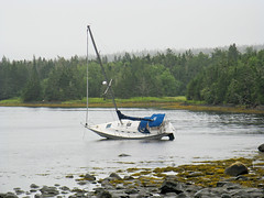 Beached Like a Whale - Coast to Coast Album (MIKOFOX  Show Your EXIF!) Tags: ocean summer beach rain sailboat bay boat novascotia tide august lowtide canona720 58348mm mikofox