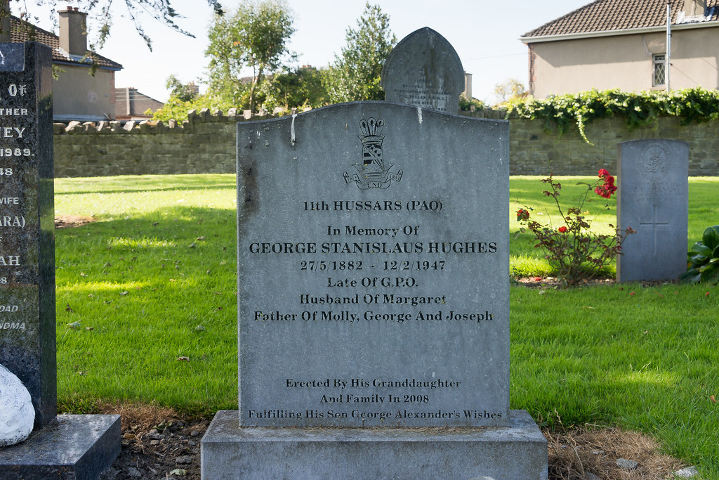 GEORGE STANISLAUS HUGHES [11th. HUSSARS] GRANGEGORMAN MILITARY CEMETERY Ref-2116
