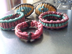 macrame - cavandoli rings (marianna micherina) Tags: diy handmade jewelry ring rings string polyester ethnic macrame waxed handmadejewelry macram cavandoli ethnicjewelry waxedpolyestercord waxedpolyesterthreads macramecavandolirings polyesterwaxedstring