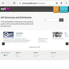 เว็บรวม API ของไทยที่สร้างโดย #NECTEC หากคุณมี Public API สามารถนำไปแชร์ให้คนนำไปใช้ได้ที่นี่ www.apidd.com ตอนนี้มี API ของ text to speech ของไทยให้ใช้ด้วย ลองๆ