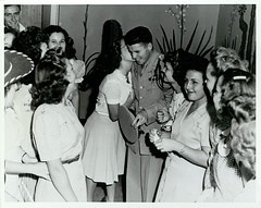 War hero Audie Murphy greeting fans in Corsicana, Texas, 1945 (The Texas Collection, Baylor University) Tags: worldwarii audiemurphy corsicanatexas