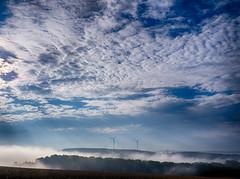 Morning skyscape (derhalbling) Tags: morning sky fog clouds day nebel cloudy foggy himmel wolken hdr windpower wolkig neblig windkraftrder derhalbling staufenbergniedersachsen