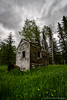 Abandoned (Witty nickname) Tags: wood old camping trees green abandoned grass vertical clouds decay wideangle alberta horseback superwide nikkor1424mmf28 nikond800