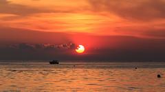 Fiery Sky (Explore 6-25-2015) (Mi Bob) Tags: sunset us unitedstates michigan grandhaven northpier grandhavenpier