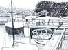 henriette (suzy_yes) Tags: bw berlin pencil sketch skizze urbansketching ©mariazaikina