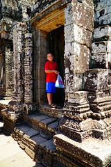 My son in Angkor Wat, Siem Reap, Cambodia (adamba100) Tags: asia asian china chinese korea korean mongolia mongolian vietnam vietnamese thai beijing town city view landscape cityscape street life lifestyle style people human person man men woman women male female girl boy child children kid interesting portrait innocent cute charm pretty beauty beautiful innocence play face headshot pure purity tourism sightseeing tourist travel trip light color colour outdoor traditional cambodia cambodian phnom penh sony a6300 18105 siem reap pattaya bangkok colonnade architecture column ruins ancient