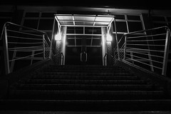 Welcome to school (Simon Gilgallon) Tags: school doors railings welcome steps stairs step rail lights