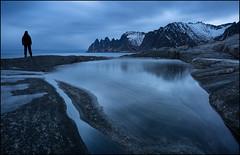 Photographers World (jeanny mueller) Tags: norway norge norwegen senja lofoten arctic winter oksen senjahopen landscape seascape bluehour sea water mountain sunrise sunset