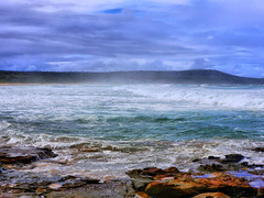 sml-fhdr-DSCN0127 (elphweb) Tags: roughseas roughsea ocean nsw australia sea water waves breakers storm coast coastal falsehdr fhdr bigwaves bigsurf surf foam mist