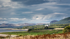 Sutherland (Daveography.ca) Tags: castle landscape gb greatbritain hills hill dunrobincastle sea ocean unitedkingdom water mountans scotland britain dramatic cloud cloudy clouds sky hilly dunrobin sutherland uk mountain