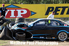 2014 V8 Supercar Test Day - June 4th - Queensland Raceway (adrenalinmatt) Tags: red erebus test 3 alex june turn day crash hard 4th australia bull racing betty will impact motorsports supercar v8 amg 2014 e63 davison klimenko