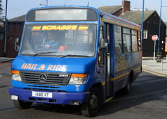 Scragg's 80 1580VT Mercedes Benz O814 Vario Plaxton Beaver (chrisbell50000) Tags: bus station mercedes benz mini beaver deck trent single midi 80 31 stoke decker on hanley vario plaxton scraggs o814 1580vt chrisbellphotocom