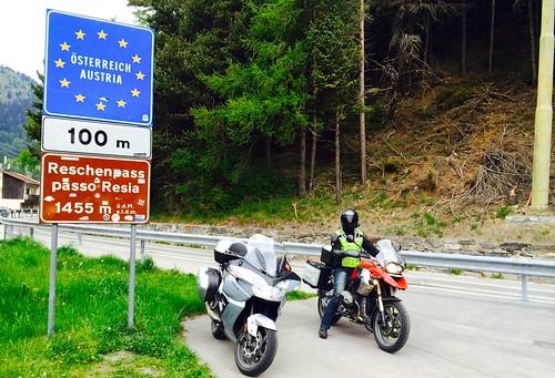 The start of our Austrian tour - Reschenpass 1,455m