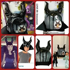 Maleficent Signature Horns ชนโรง หมวก หนัง เมเลฟฟิเซ้นต์ สมจริง  Toys R Us Limited USA IMPORTED  พร้อมส่ง ราคา 2,490-. +100-.Ems