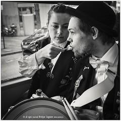 Love is a bite of icecream (benzi the expedition truck travel) Tags: blackandwhite food bus love norway kiss kissing couple europe country romance icecream romantic bergen scandinavia gastronomy humanbehavior nourishment descriptive nordiccountries roadtransport