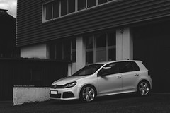 MK VI R (MPE Automotive Photography) Tags: blackandwhite bw black france canon golf stock sigma clean r static 70200 stance golf6 stanced stanceworks royalstance