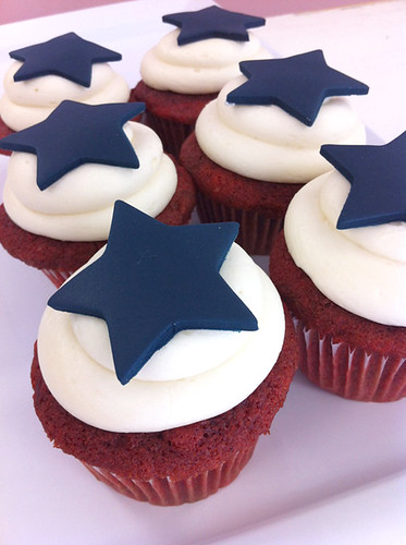 Red White Blue Cupcakes