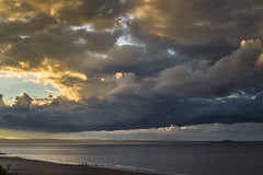 Storm clouds at Seafield (Grant_R) Tags: sunset scotland edinburgh forth stormclouds firthofforth grantr