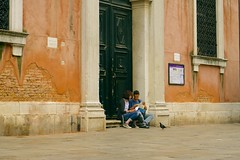 Venice, May 2014 - 88 (Ed Yourdon) Tags: venice couple map pigeon