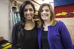 Board members, Sheetal (left) and Victoria (right)