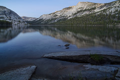 Dusk at Tenaya Lake (Joe Ganster) Tags: california park ca light usa mountain lake nature water beautiful beauty reflections landscape us high scenery long exposure natural peak joe sierra national yosemite dome polly range tenaya ganster