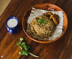 [216] (jathdreams) Tags: wood food chicken bokeh indian raita ryanbrenizer chickenbiryani
