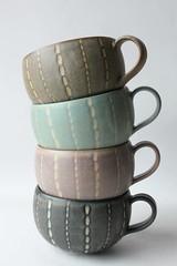 mugs (anewdawnanewday) Tags: eve ceramics carving mug pottery tableware fuctionalware