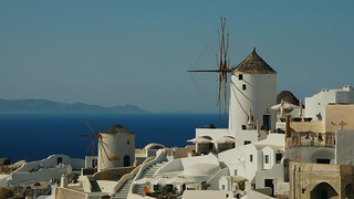 the old windmills of Oia / Thira / Greece