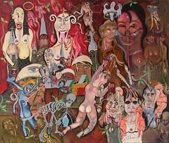 LA PRIÈRE À SAINT-ANTOINE (2002) (Claude Bolduc) Tags: artsingulier artbrut outsiderart autodidacte selftaugh visionaryart intuitiveart surrealism lowbrow