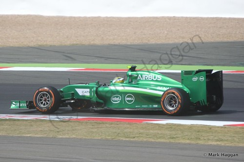 Marcus Ericsson during Free Practice 1 at the 2014 British Grand Prix