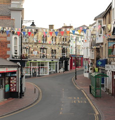 Late for the party (gary_whenman) Tags: road street party white flags late quite isle iow bunting