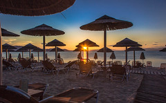 First  sunset of the Summer on the beach (Vagelis Pikoulas) Tags: blue sunset summer sky sun beach june canon eos kiss day end 1855mm x4 2014 skky chalkida alykes drosias
