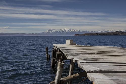 Cordillera exterior desde la Isla del Sol