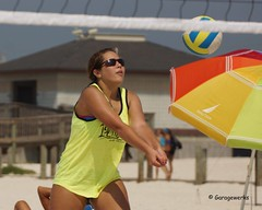 Gulf Shores Beach Volleyball Tournament (Garagewerks) Tags: woman beach girl sport female court sand all child gulf sony sigma tournament volleyball shores 50500mm views50 views100 views200 views150 f4563 slta77v