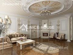 Thiết kế nội thất phòng khách tân cổ điển_016