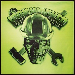 Ironworkers. They're probably tougher than you.  #expertees #tshirts #ironworker