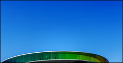 Blue Green (Maerten Prins) Tags: blue sky panorama color colour green glass lines museum denmark rainbow curves aros curve eliasson olafur arhus