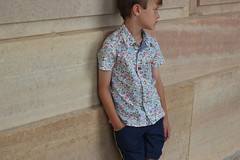 Zonen 09 Theo in Liberty London Floral (sweetkm1) Tags: pink blue light boy london floral shirt kids liberty lawn down clothes 09 short button hawaiian betsy week theo tana sleeve collared zonen chambray kcw