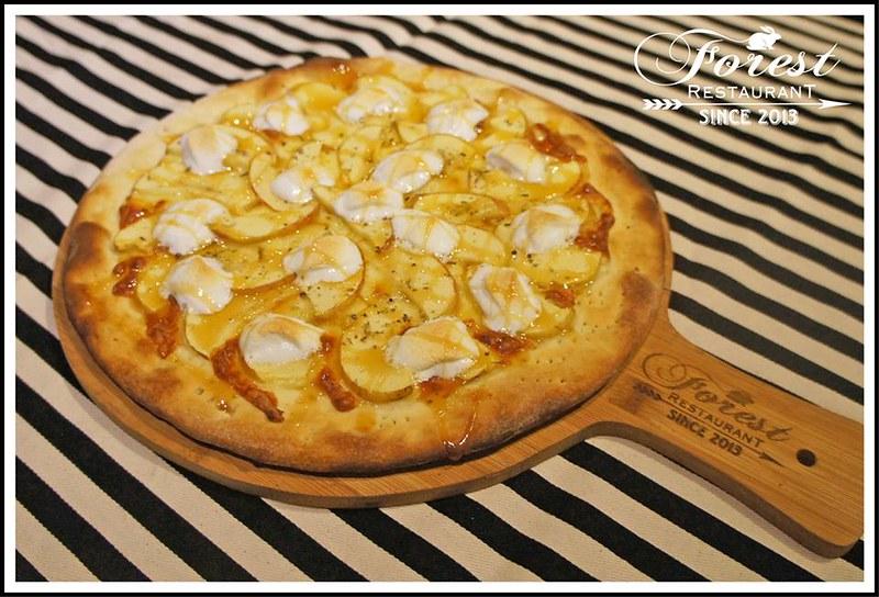 太妃蘋果奶油熱棉花糖披薩200
