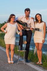 Clover's Acoustic Trio (Giacomo Lazzarini) Tags: music white dress guitar acoustic piccolo chitarra lio cavallino