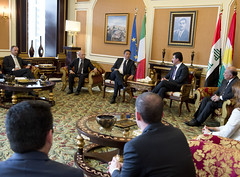 Visita di Renzi in Iraq (Palazzochigi) Tags: iraq erbil matteorenzi kurdistaniracheno nechervanbarzani