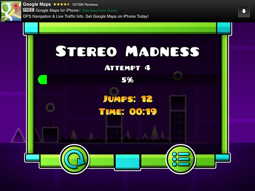 Geometry Dash Level Completed: screenshots, UI