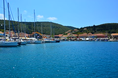 Marine in Fiskardo (Photo_hobbyist) Tags: blue sea water buildings boats island marine day greece yachts traveling vacations kefallonia ionian fiskardo eptanisa phiskardo pwpartlycloudy